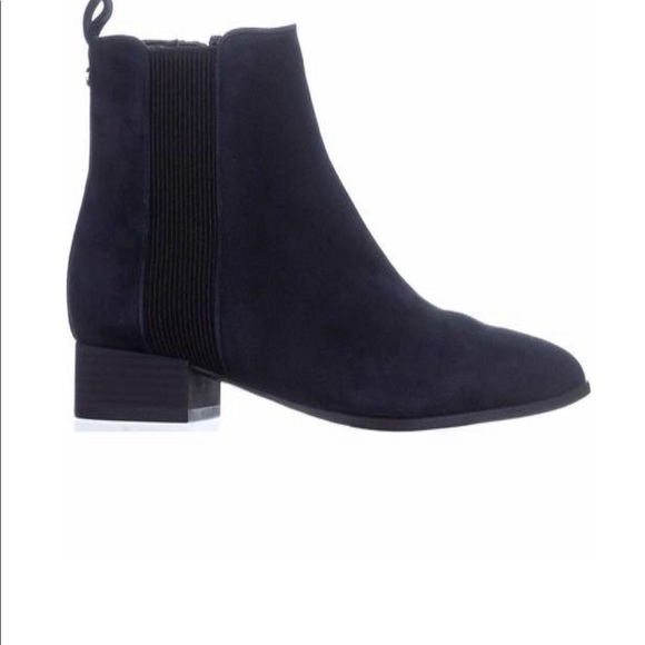 Dkny Shoes Navy Blue Ankle Boots Poshmark
